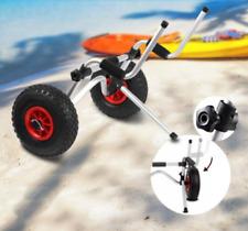Aluminium Foldable Kayak Collapsible Canoe Wheel Cart Boat Carrier Trolley