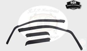 EGR Smoke In-Channel Window Visor 4pc Set 2007-2013 Chevrolet Avalanche 571701