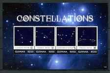 Guyana 2013 estampillada sin montar o nunca montada constelaciones 4v M/S II estrellas Cáncer Tauro Piscis sellos