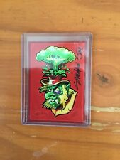 Smokin Joe Autograph Card Monsters Pop! GPK Artist