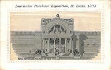 1904 St. Louis World's Fair Woven Silk Palace of Art Postcard