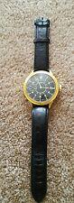 Rare Big Military LONGINES Swiss Wristwatch in Steel Case Aviator Pilots WWII
