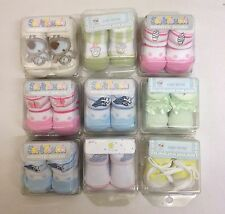27x Baby Boys Girls Ankle Socks Booties Gift Box Job Lot New 1 size 0-6 Months