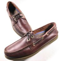 Sperry Top-Sider 2 Eye Brown Leather Boat Shoes Size 10.5 Men's