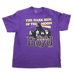 PINK FLOYD Mens XL T-Shirt Purple The Dark Side of The Moon 100% Cotton Official