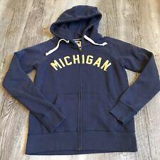 University Of Michigan Full Zip Hoodie Women's Size Small Blue