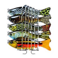 5Pc Fish Bait Lure Swimming Colorful Minnow Bass Tackle Fishing Gear Bionic Hard