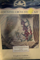 Country Diary Of An Edwardian Lady Cross Stitch Kit Foxglove Cushion DMC