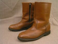 Men's Field & Stream Mason USA Lined Insulated Brown Leather Side-Zip Boots 8.5