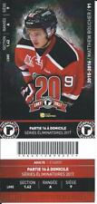 QMJHL Ticket - Quebec Remparts 20th Anniversary MATTHEW BOUCHER #91