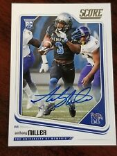 2018 Score Football Rookie Auto #385 Anthony Miller Memphis Chicago Bears WR