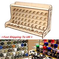 50 Pots Wooden Pigment Color Bottle Storage Organizer Rack Paints Stand Holder