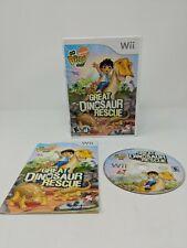 Go, Diego, Go Great Dinosaur Rescue (Nintendo Wii, 2008) With Manual