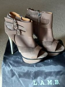 LAMB Suede And Leather Booties Size 8