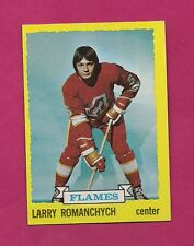 1973-74 TOPPS # 185 FLAMES LARRY ROMANCHYCH ROOKIE NRMT CARD (INV# A861)