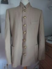 "Civil War S men boy Butternut 100% Wool Confederate 7 ""I"" Brass Button Sack Coat"
