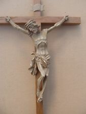 Superbe ancien grand crucifix