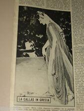 MARIA CALLAS clipping ritaglio articolo foto fotografia 1960 IN GRECIA EPIDAURO
