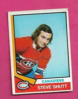 1974-75 OPC # 316 CANADIENS STEVE SHUTT  ROOKIE VG+ CARD (INV# D1365)