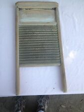 Antique Washboard Wood and Brass Metal Wardway no. 243 Montgomery Ward & Co.