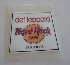 Def Leppard Hard Rock Cafe Jakarta Tour Issued Used Backstage Pass Laminate