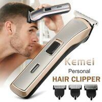 Kemei Men's Hair Clipper Rechargeable Shaver Trimmer Grooming Kit Cordless Gift