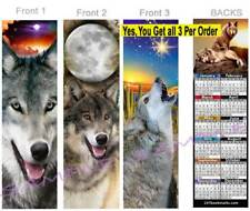 3 set-WOLF 2019 CALENDAR BOOKMARK Wolves Howling Dingo WIldlife Dog Perfect Gift