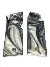 Silver & White Pearl Colt Mustang Pocketlite Grips