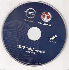 OPEL CD 70 MAPPE 2015 ITALIA-GRECIA + CD AGGIORNAMENTO SOFTWARE OPEL CD70 NAVI