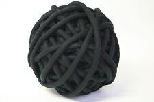 1kg Coloured Merino felted super chunky Nundle wool vine knitting Black