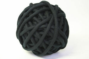 1kg Coloured Merino felted super chunky Nundle wool vine knitting Black