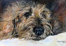 Irish Wolfhound Dog Blank Card/Notelet No 7SH Starprint