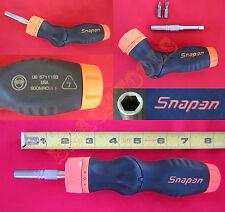 New Snap On Orange Soft Grip 5 Position Handle Ratchet Screwdriver SGDMRCE44O