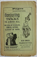 UNCUT 1890S MAGIC BOOKLET (CONJURING TRICKS), R. MARCH & CO., SCARCE THUS