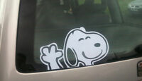 Snoopy Autoaufkleber Winkend Peeper 10 Farbauswahl