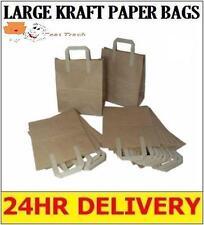 "2000 LARGE KRAFT PAPER CARRIER SOS BAGS 10x5.5x12.5"" - BROWN"