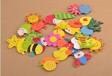 12 PCS Cartoon Funny Baby Toy Wooden Fridge Magnet Refrigerator Magnets Gift AB