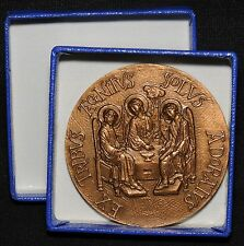 Large Saint Hilary of Poitiers, Doctor of the Church Medal - France, 1968