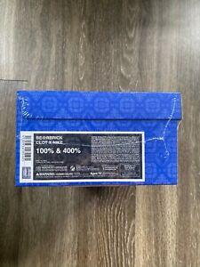 Bearbrick Clot Nike 100% & 400% Set Royale University Blue Silk NEW SHIPS TODAY