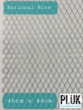 2 Sheets of Expanded Galvanised Varroa Mesh National Hive Beekeepers 46cm x 46cm