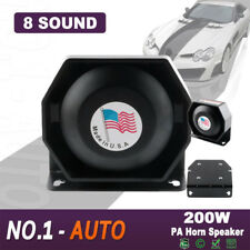 Universal 200W Loud Speaker Car Warning Alarm Police Fire Siren Horn MIC System