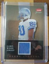 2004 Fleer Barry Sanders Game Work Jersey 165/300 The Glory Of Their Time