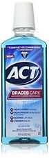 4 Pk ACT Braces Care Anticavity Fluoride Mouthwash w/ Xylitol Clean Mint 18oz Ea