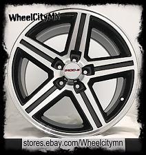 "16 x8"" black machined Chevrolet Camaro Z28 IROC OE factory replica wheels 5x4.75"