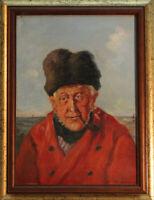 Antikes Ölgemälde Portrait Seemann signiert