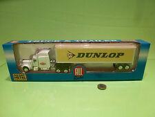 ALL RIDE PETERBILT TRUCK + TRAILER - DUNLOP - 1:60 - NEAR MINT IN BOX