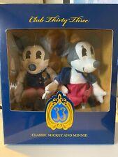 Disney club 33 Classic Mickey and Minnie Plush Dolls