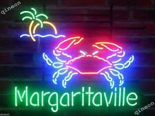 24x24 2016 New Style Margaritaville Crab Logo Tiki Bar Pub Real Neon Light Sign