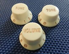 Fender Squier Standard Series Stratocaster GUITAR KNOBS Guitar Control Parchment