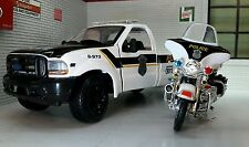 1:24 Scale Maisto Police Ford F350 & Harley Davidson Diecast Model Truck 1:27